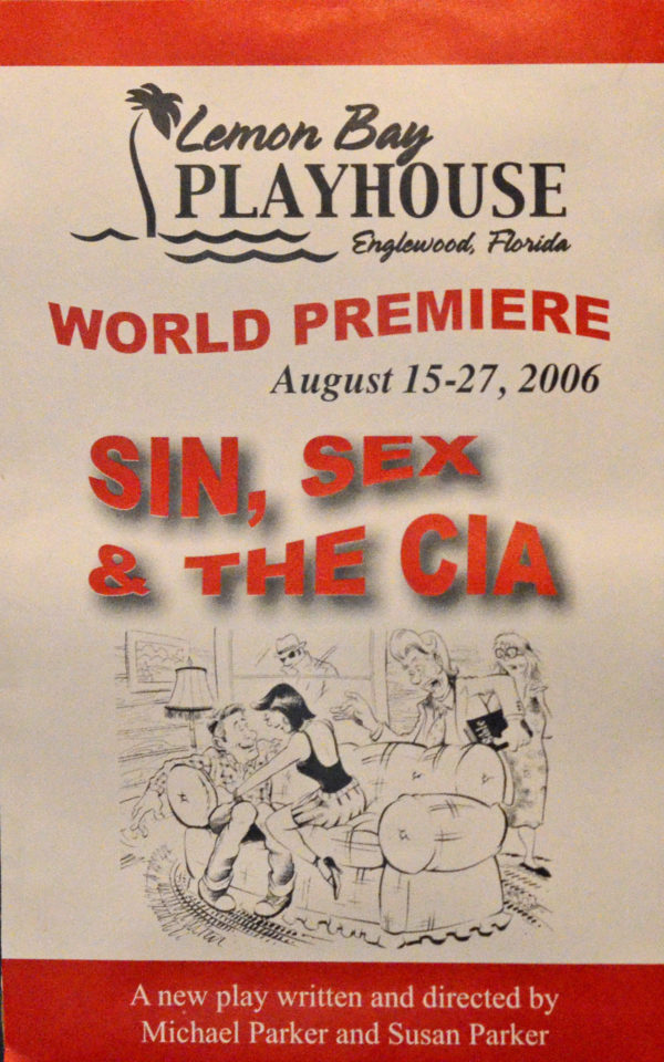poster advertising for Sin, Sex & The CIA August 2006