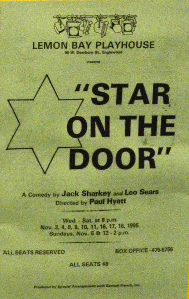 poster advertising for show: star on the door (showing star with 6 edges)